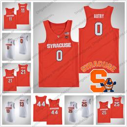 a47f5f044a5 NCAA Syracuse Orange  0 Adrian Autry 3 Gerry McNamara 5 Jalen Carey 13  Paschal Chukwu 23 Frank Howard College Basketball Jersey S-4XL