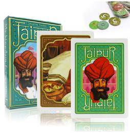 Regras de jogos de tabuleiro on-line-Jaipur jogos de tabuleiro inglês espanhol regras 2 jogadores jogo de cartas para os amantes adultos SH190907