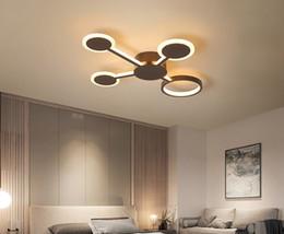 Yeni Tasarım Modern Oturma Odası Yatak Odası Çalışma Odası Için Led Tavan Işıkları Ev Renk Kahve Bitirmek Tavan Lambası cheap new home lighting design nereden yeni ev aydınlatma tasarımı tedarikçiler