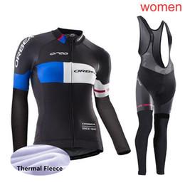 2019 Women KTM ORBEA Team cycling jersey set Winter Thermal Fleece long  sleeve bike shirts bib pants kits bicycle clothing Y022202 3e0f6e34a