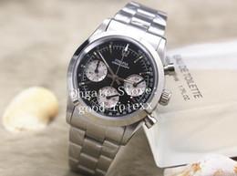 старинные часы из нержавеющей стали Скидка Старинные мужские кварцевые часы с хронографом мужские Panda циферблат швейцарские Ronda Cosmograph часы из нержавеющей стали мужские антикварные вечные наручные часы
