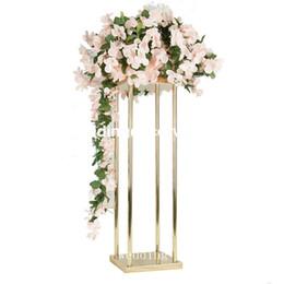 Hochzeitsschiff blumenschmuck online-neuer Art Hochzeits-Gang-Metallgehweg-Blumen-Standplatz für Hochzeits-Dekoration decor1123