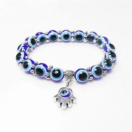 Moda Türkiye Evil Blue Eyes Boncuk Bileklik Erkekler Kadınlar Dini Hamsa el Charms Bilezik Bilezik Toptan Takı CFJ735 nereden
