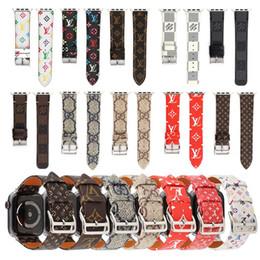 2019 ersatz für uhren Für apple watch band 38 / 40mm 42 / 44mm branding echtes leder armband ersatz designer premium monogramm uhrenarmbänder strap zubehör günstig ersatz für uhren