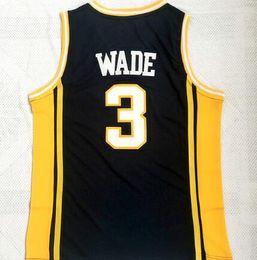 Personality 3 Wade College Basketball Wears, uomo Marquette Golden Eagles 3 Wade Basket wear, negozio online di fan in vendita maglie personalizzate da giallo uniforme di pallacanestro verde fornitori