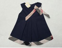 schicht tüll kleid weiße mädchen Rabatt Neue Sommer Mädchen Kleid Baby Kleider Casual Plaid Neugeborenes Baby Kleidung Designer Label Mädchen Kinder Kleidung Mode Kinder Kleid