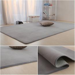 Blauer teppich modern online-Wohnzimmer Schlafzimmer Teppich Rutschfeste weiche 50 * 160 cm Teppich moderner Teppich Bodenmatte Purpule grau 11 Farbe