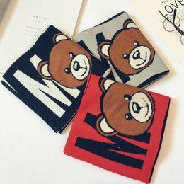 Canada 2019 Hiver Nouveau Mode enfants Echarpes chaud garçons Bébés filles écharpe Cartoon Ours doux écharpe collier enfants extensible cou anneau 22 * 140cm Offre