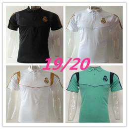 2019 echte uniform 2019 Real Madrid Polo-Shirt Fußball Jersey 19/20 Fußball Real Madrid HAZARD Shirt RAMOS MODRIC ASENSIO ISCO Fußball POLO Uniformen rabatt echte uniform