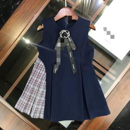 Venta al por mayor Niños niñas arco vestido niña sin mangas moda otoño vestido Ropa para niños desde fabricantes