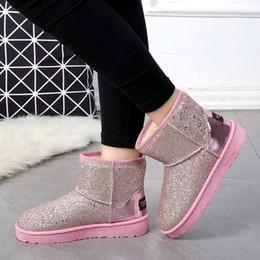 9135f53acc0 2019 pisos acolchados Botas australianas mujer marca zapatos de invierno  mujer botte femme dama bota acolchada