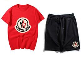Trikot jogging hose online-Neue Designer Herren Damen Trainingsanzüge Sommer T-shirt + Hose Sportswear Mode Sets Kurzarm Laufen Jogging Set