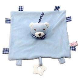 Poupées pour bébés en Ligne-Peluche bébé apaiser serviette bébé couverture jouet doux en peluche nourrisson apaiser serviette enfant confort tétine éléphant lapin ours poupée C23