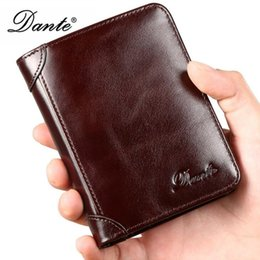 Mens Luxury Wallet Oil Wax Genuine Cowhide Leather Wallets High Quality Men Retro Short Wallet Extra Capacity Bifold Wallet With Gift Box от Поставщики воловья кожа натуральная кожа