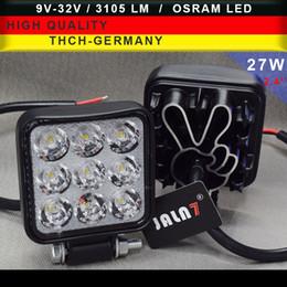 polegada cabeça luzes Desconto LED Light 27W 2.4 polegadas motocicleta Farol local Lâmpada principal do carro Lâmpada caminhão do trabalho acende OSRAM Chip