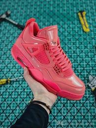 Новый 2019 цвета Iv 4 Nrg энергия розовый горячий удар синглы день Красный баскетбол обувь 4s мужчины S женщины спортивные кроссовки Size36-47.5 cheap energy shoes от Поставщики энергетическая обувь