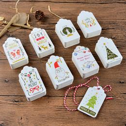 mensajes del arbol de navidad Rebajas 50pcs muñecos de nieve de las Felices Navidad para las decoraciones Inicio Mensaje Blessing Tarjetas de felicitación del árbol de navidad etiquetas colgantes Adornos