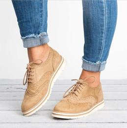 estilo oxfords nuevo estilo mujer Rebajas 2018 Nuevos zapatos EVA Brogue Mujer Plataforma Oxfords Creepers de estilo británico Recortes Planos Zapatos casuales de mujer 5 colores XWD6990