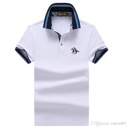 2020 menino polos Poloshirt sólido Polo Homens Luxo Polo curto Básico Top Cotton Polos For Boys Marca Designer Polo Homme FE035 da luva dos homens menino polos barato