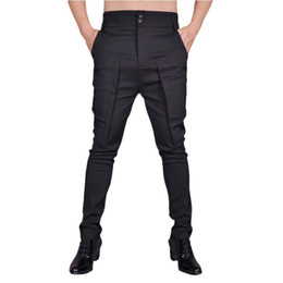 Hair stylist summer trousers pants new list stretch male high top hip hot Korean casual tight feet tide harem pants от
