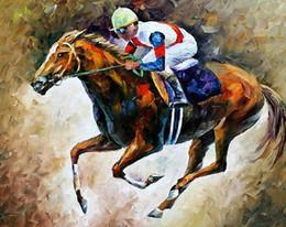 leonid afremov tela Desconto handmade lona corridas de cavalos pinturas a óleo faca pintura Leonid Afremov tela do artista reprodução da pintura de decoração de parede moderno