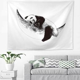 Murais de elefantes on-line-150 * 130 cm Animal Impresso Tapeçaria Toalha De Praia Euramerican Decoração Pendurado Na Parede Panda Leão Elefante Tigre Tapeçaria Mural Do Partido