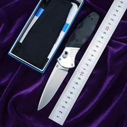 2019 facas de sobrevivência bainhas de kydex BM581 D2 lâmina de Alumínio G10 lidar com dobrável caça acampamento de Bolso Ao Ar Livre Sobrevivência Ferramenta EDC jantar Tático faca de cozinha