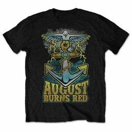 2019 camicia di ancoraggio rossa AUGUST BURNS RED Dove Anchor Mens Maglietta UnisePrinticial Licensed Band Merch sconti camicia di ancoraggio rossa