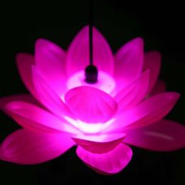 Luzes led lotus outdoor on-line-Kongming latern arranjo de campo decoração ao ar livre à prova d 'água led luzes coloridas lâmpada de lótus fazer uma lâmpada desejo