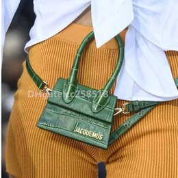 letras brillantes con strass Rebajas Jacquemus Catwalk Mini bolso Cross Body Cintura Flap Bag Bolso pequeño Messenger de gama alta