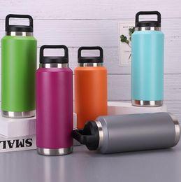 autos direkt Rabatt Wasserflaschen des Edelstahl-36oz verdoppeln Vakuumisolierungs-Auto-Schalen-Eiscreme-Schalen-im Freiensport-Freizeit-bewegliche Auto-Schale ht7