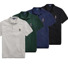 2019 marchio di marca di polo Hot Summer US RL RACING Polo da uomo di marca JC009 famoso designer Fanshion manica corta Tshirt classico ricamo logo Uomo risvolto tees sconti marchio di marca di polo