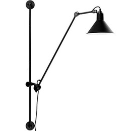 Lampade da parete orientabili nordiche Lampada da parete moderna industriale a braccio lungo nero Lampade da parete vintage Riparo E27 per bagno Camera da letto Nuove lampade supplier swings for bedroom da altalene per la camera da letto fornitori