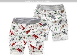 2019 boutique animal do bebê da cópia 2 estilos Ins New Baby Shorts meninos Dinossauro Imprimir ins curto verão bebê crianças comfortale Boutique 100% algodão Roupas boutique animal do bebê da cópia barato