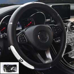 ruedas reflectantes Rebajas 38CM Auto Car Steering Wheel Cover Anti-catch Holder Protector China Dragon Design Reflective Sports Style Interior Accesorios