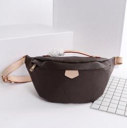 Faixa dos homens velhos on-line-Bumbag fannypack homens designer sacos de cintura velho padrão de flor de couro pu de alta qualidade moda homem luxo bolsas bolsa de cinto