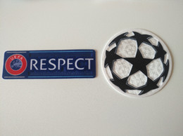 Badges de football en Ligne-Respect de la ligue des champions badge de football ucl vente en gros