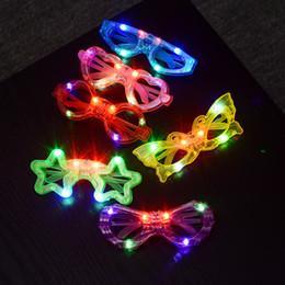 Occhiali di plastica LED Flash luminoso cieco occhiali lampeggiante occhiali incandescente matrimonio Carnevale Dance Bar partito giocattolo di Natale W8607 da led occhiali lampeggianti fornitori