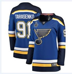 Vladimir Tarasenko Alex Pietrangelo St. Louis Blues nhl Hockey Trikots David Perron 2019 Stanley Cup Final Patch BENUTZERDEFINIERTE Trikots Kinder von Fabrikanten