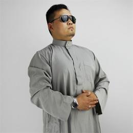 Hommes arabes Jubba Thobe Vêtements islamiques Robes musulmanes Arabe Dubaï Dubai Islam traditionnel 60% coton Eid-Moubarak Service de prière ? partir de fabricateur