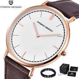 064fb97eff0 PAGANI Design de Luxo Da Marca Simples Relógio Das Mulheres Dos Homens de  Quartzo Relógio De Pulso Banda De Couro À Prova D  Água Relógio de Moda  Homens ...