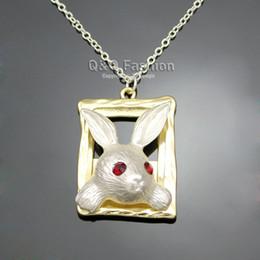 trajes de conto de fadas Desconto Gold Silver maravilhas Olho do rubi de março Hare Coelho de coelho Quadro Fairytale Máscara colar do presente