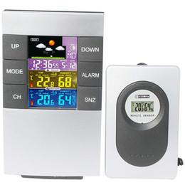 Stazioni usate online-Allarme SZS senza fili caldo della stazione metereologica di Digital Clock Previsioni Meteo uso interno ed esterno Temperatura Umidità Data E Tim