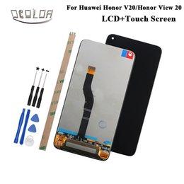 reparar reparo xperia Desconto Ocolor para huawei honor v20 display lcd e tela sensível ao toque + ferramentas e adesivo para huawei honor vista 20 acessórios do telefone lcd