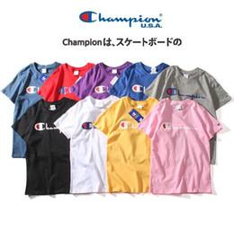 2019 camisetas en blanco de la moda 2019 Unisex primavera verano Campeones impresos pequeño logotipo de C Champ cosido en blanco camiseta para hombre diseñadores camiseta clásica tendencia ropa de calle camisetas en blanco de la moda baratos