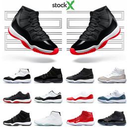 Dimensione 11 scarpe sportive blu online-2020 Mens Basketball Shoes 11s Nuovo Bred Snakeskin METALLICO ARGENTO Concord 45 23 GAMMA BLU 11 sport delle donne della scarpa da tennis formatori Dimensioni 5,5-13