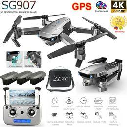 Quadcopter gps fpv online-Doble cámara SG907 GPS Drone 4K HD 5G Wifi FPV RC Drone Quadcopter Follow Me A0I3