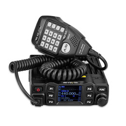 RETEVIS RT95 Radio móvil para coche Walkie Talkie Pantalla TFT LCD 25W VHF UHF Banda dual Radio bidireccional Amador Ham Transceiver + MIC desde fabricantes