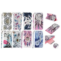 kiss flowers Coupons - Flower Leather Wallet Case For Galaxy Note 9 S9 S8 (A7 J3 J4 J6 J7 J8 A6 A8)2018 Eiffel Tower Dreamcatcher Kiss Luxury Magnetic Flip Cover