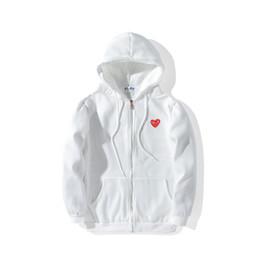 Vestes de designer pour hommes CDG jouent chemise à capuchon hors coeur rouge comm. ? partir de fabricateur